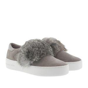 MICHAEL KORS Grey Fur Slip On Sneakers Size US 9.5